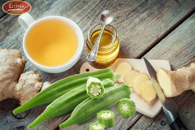Người bị bệnh tiểu đường nên uống nước ép đậu bắp và gừng.